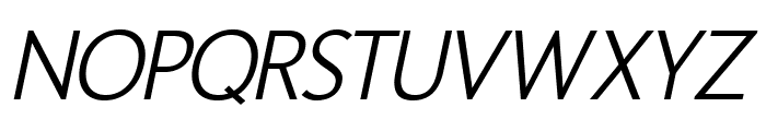 Homizio Nova Italic Font UPPERCASE