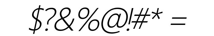 Homizio Nova Light Italic Font OTHER CHARS