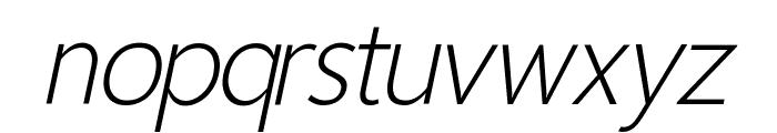 Homizio Nova Light Italic Font LOWERCASE