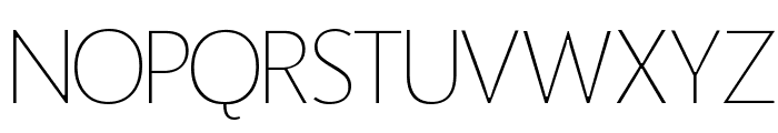 Homizio Thin Font UPPERCASE