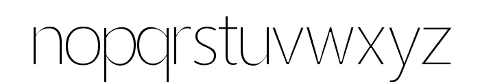 Homizio Thin Font LOWERCASE