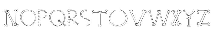 HoneBone-Hakkotsu Font UPPERCASE