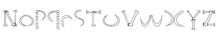 HoneBone-Hakkotsu Font LOWERCASE
