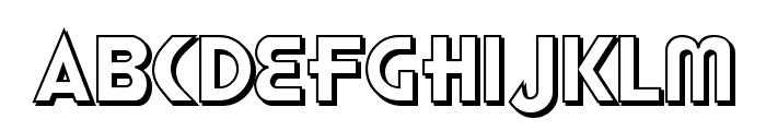 Honest John's Shadow Font LOWERCASE