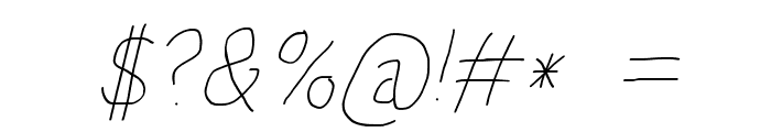 HoneyBee Beeline Italic Font OTHER CHARS