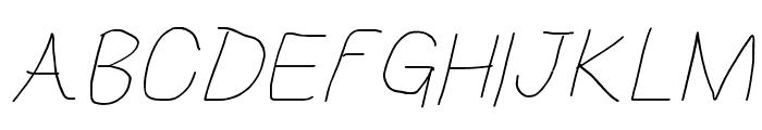 HoneyBee Beeline Italic Font UPPERCASE