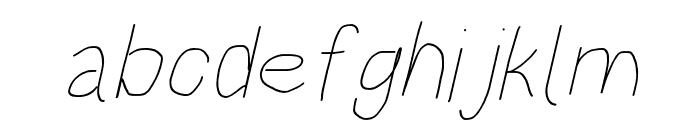 HoneyBee Beeline Italic Font LOWERCASE