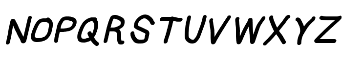 HoneyBee Black Italic Font UPPERCASE