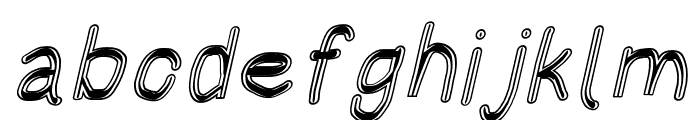 HoneyBee Blur Italic Font LOWERCASE