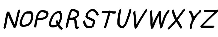 HoneyBee Bold Italic Font UPPERCASE