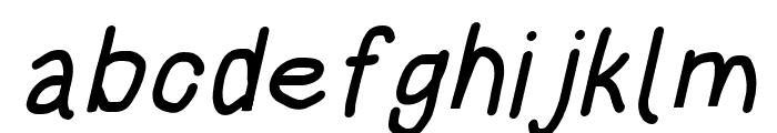 HoneyBee Bold Italic Font LOWERCASE