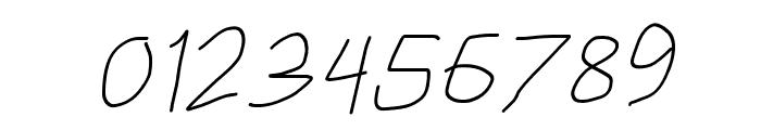 HoneyBee Extralight Italic Font OTHER CHARS