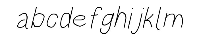HoneyBee Extralight Italic Font LOWERCASE