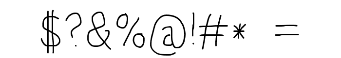 HoneyBee Extralight Font OTHER CHARS