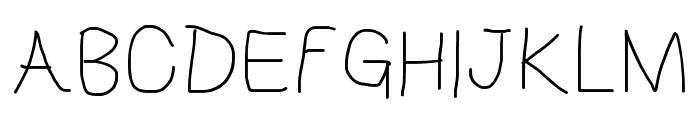 HoneyBee Extralight Font UPPERCASE