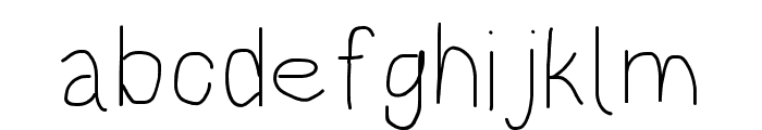 HoneyBee Extralight Font LOWERCASE