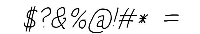 HoneyBee Light Italic Font OTHER CHARS