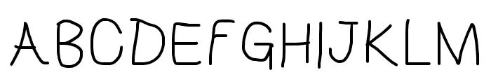 HoneyBee Semilight Font UPPERCASE
