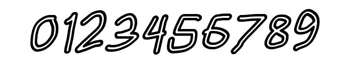HoneyBee Stripe Italic Font OTHER CHARS