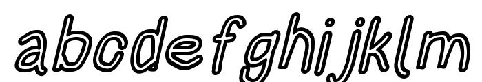 HoneyBee Stripe Italic Font LOWERCASE