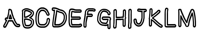 HoneyBee Stripe Font UPPERCASE