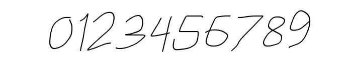 HoneyBee UltraLight Italic Font OTHER CHARS