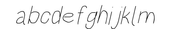 HoneyBee UltraLight Italic Font LOWERCASE