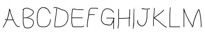 HoneyBee UltraLight Font UPPERCASE