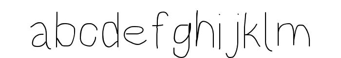 HoneyBee UltraLight Font LOWERCASE