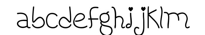HoneybeeRegular Font LOWERCASE