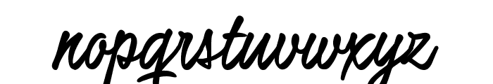 Honeymoon Up Bold PERSONAL USE Font LOWERCASE