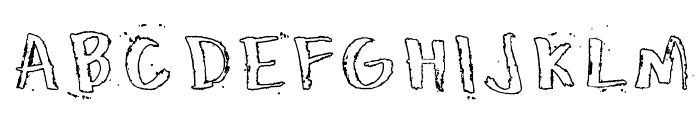 Honeytone Hollow Font UPPERCASE