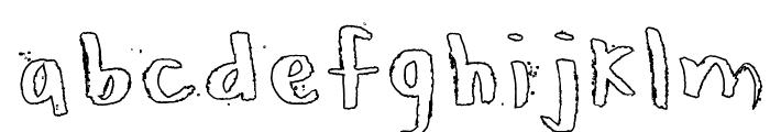 Honeytone Hollow Font LOWERCASE