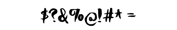 HoneyvoidDEMO Font OTHER CHARS