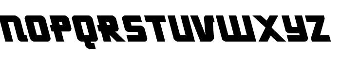 Hong Kong Hustle Leftalic Font UPPERCASE