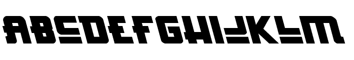 Hong Kong Hustle Leftalic Font LOWERCASE