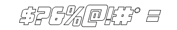 Hong Kong Hustle Outline Italic Font OTHER CHARS