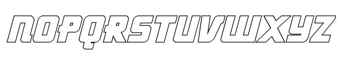 Hong Kong Hustle Outline Italic Font UPPERCASE