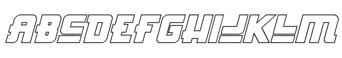 Hong Kong Hustle Outline Italic Font LOWERCASE