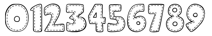 Hooman Stitch Font OTHER CHARS