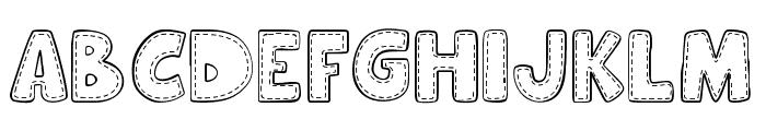 Hooman Stitch Font UPPERCASE
