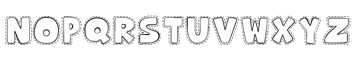 Hooman Stitch Font LOWERCASE