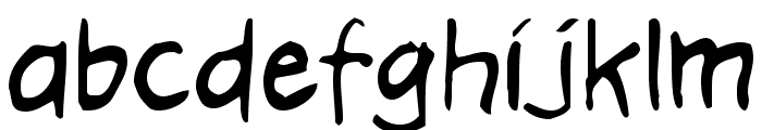 Hooteroll_Jam Font LOWERCASE