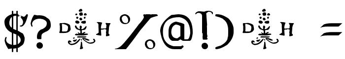 Hopfer Hornbook Font OTHER CHARS