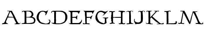 Hopfer Hornbook Font UPPERCASE