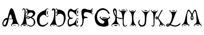 Horns Font LOWERCASE