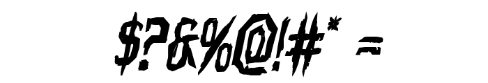 Horroroid Bold Italic Font OTHER CHARS