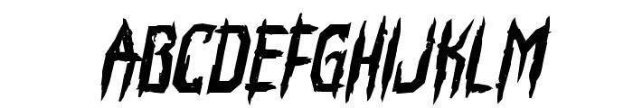 Horroroid Bold Italic Font LOWERCASE