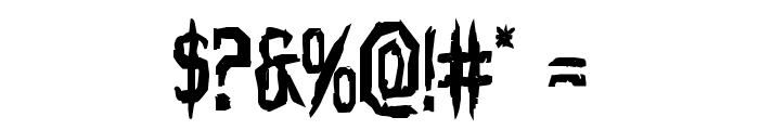 Horroroid Bold Font OTHER CHARS