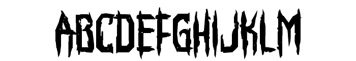 Horroroid Bold Font LOWERCASE
